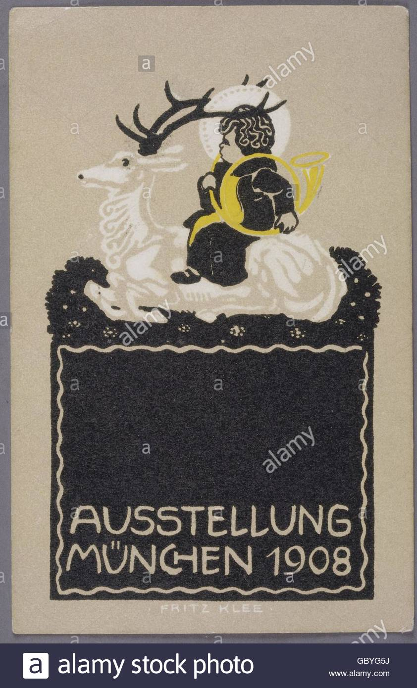 exhibitions, 'München 1908', poster by Fritz Klee (1876 - 1976), Artist's Copyright must also be - Stock Image