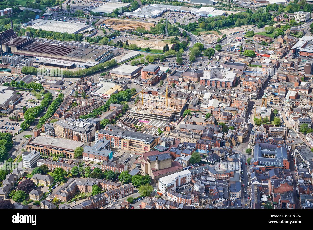 Northampton Town centre, Northamptonshire, UK - Stock Image