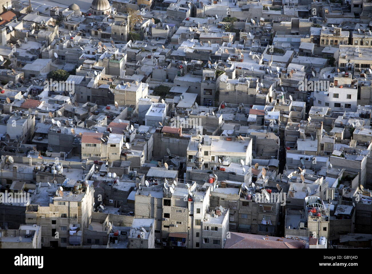 the city centre of Damaskus before the war in Syria in the middle east - Stock Image