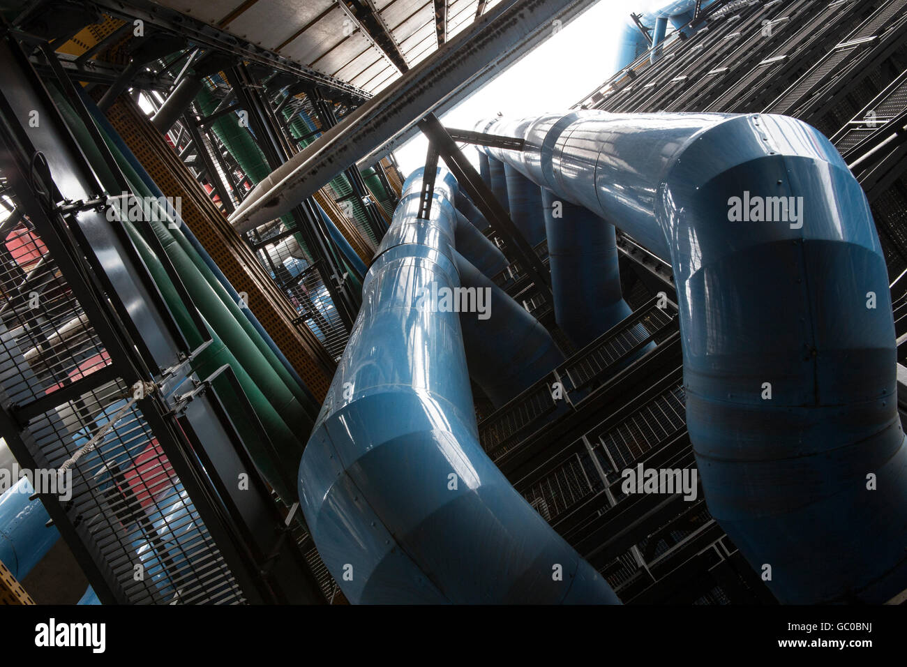 Pompidou Centre Paris - Stock Image