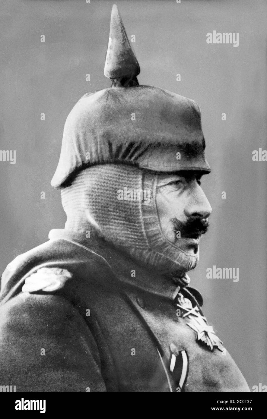 Kaiser Wilhelm II. Portrait of Kaiser Wilhelm II (1859-1941), Emperor of Germany and King of Prussia, wearing field - Stock Image