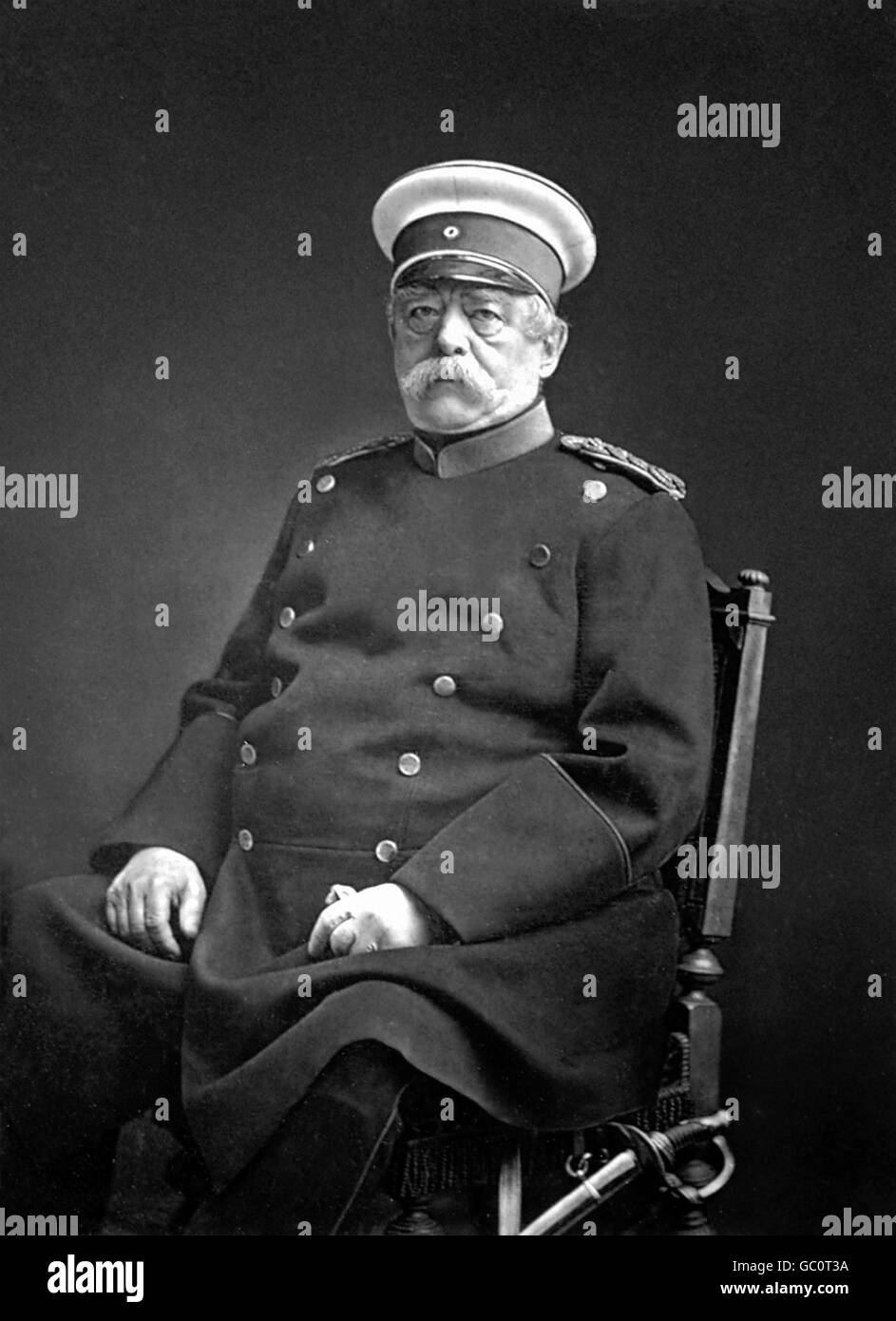 Otto von Bismarck. Portrait of Otto Eduard Leopold, Prince of Bismarck, Duke of Lauenburg (1815-1898), the renowned - Stock Image