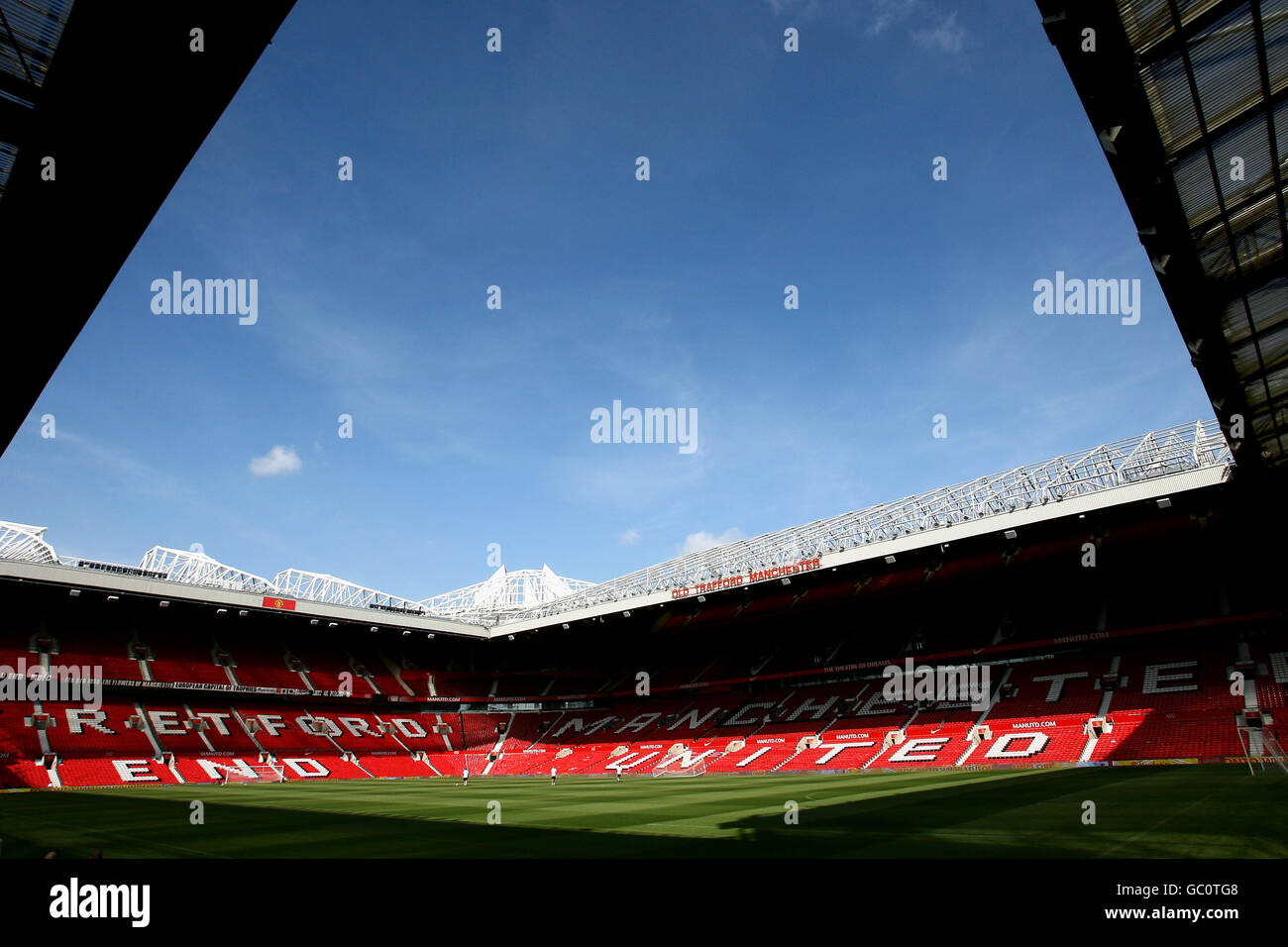 Soccer - Manchester United Training Session - Old Trafford - Stock Image