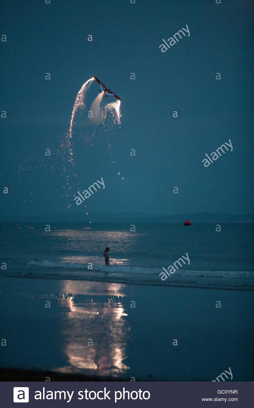 Night air festival - Stock Image
