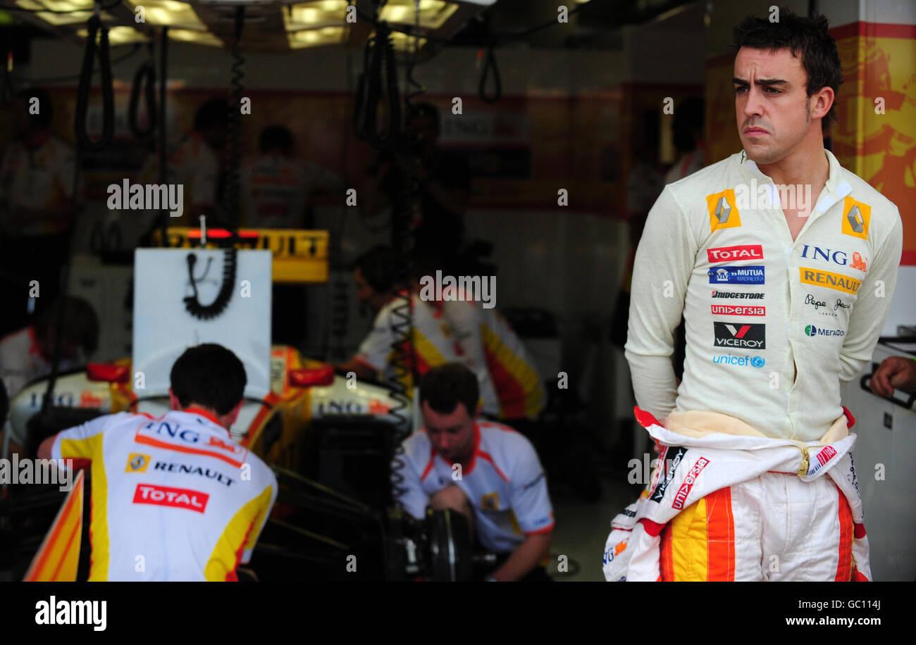 Formula One Motor Racing - European Grand Prix - Practice Day - Circuit Valencia - Stock Image