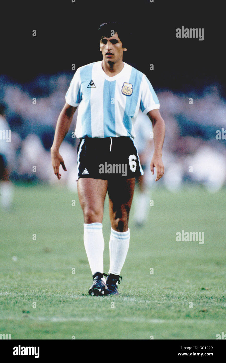 abbf6a358 Soccer - World Cup Spain 82 - Group Three - Argentina v Belgium - Stock  Image
