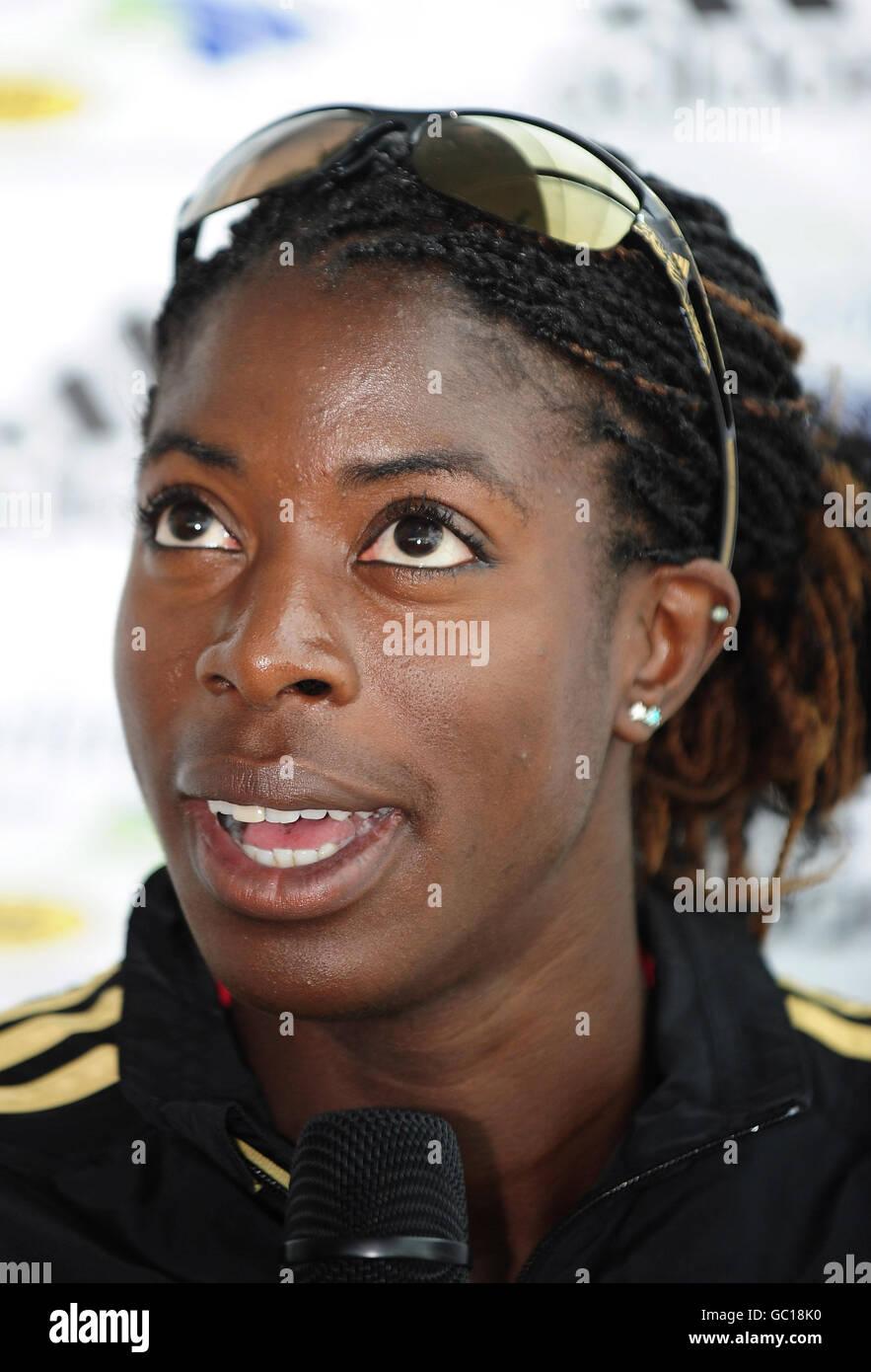 Athletics - IAAF World Athletics Championships - UK Athletics Press Conference - Radisson Blu Hotel - Stock Image
