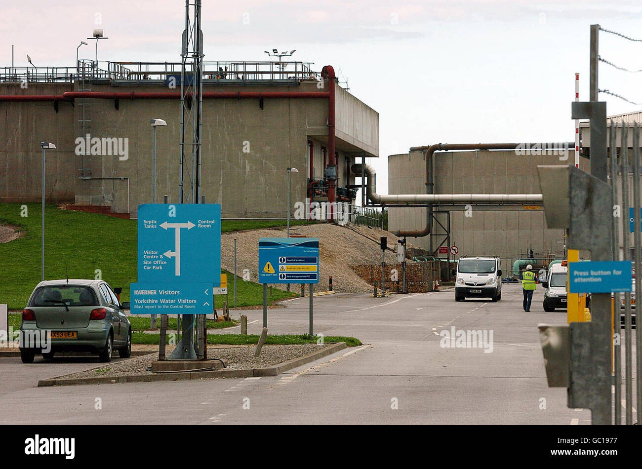 Baby body parts found at sewage treatment works - Stock Image