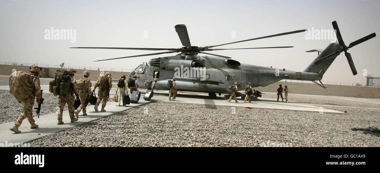 Troops in Afghanistan - Stock Image