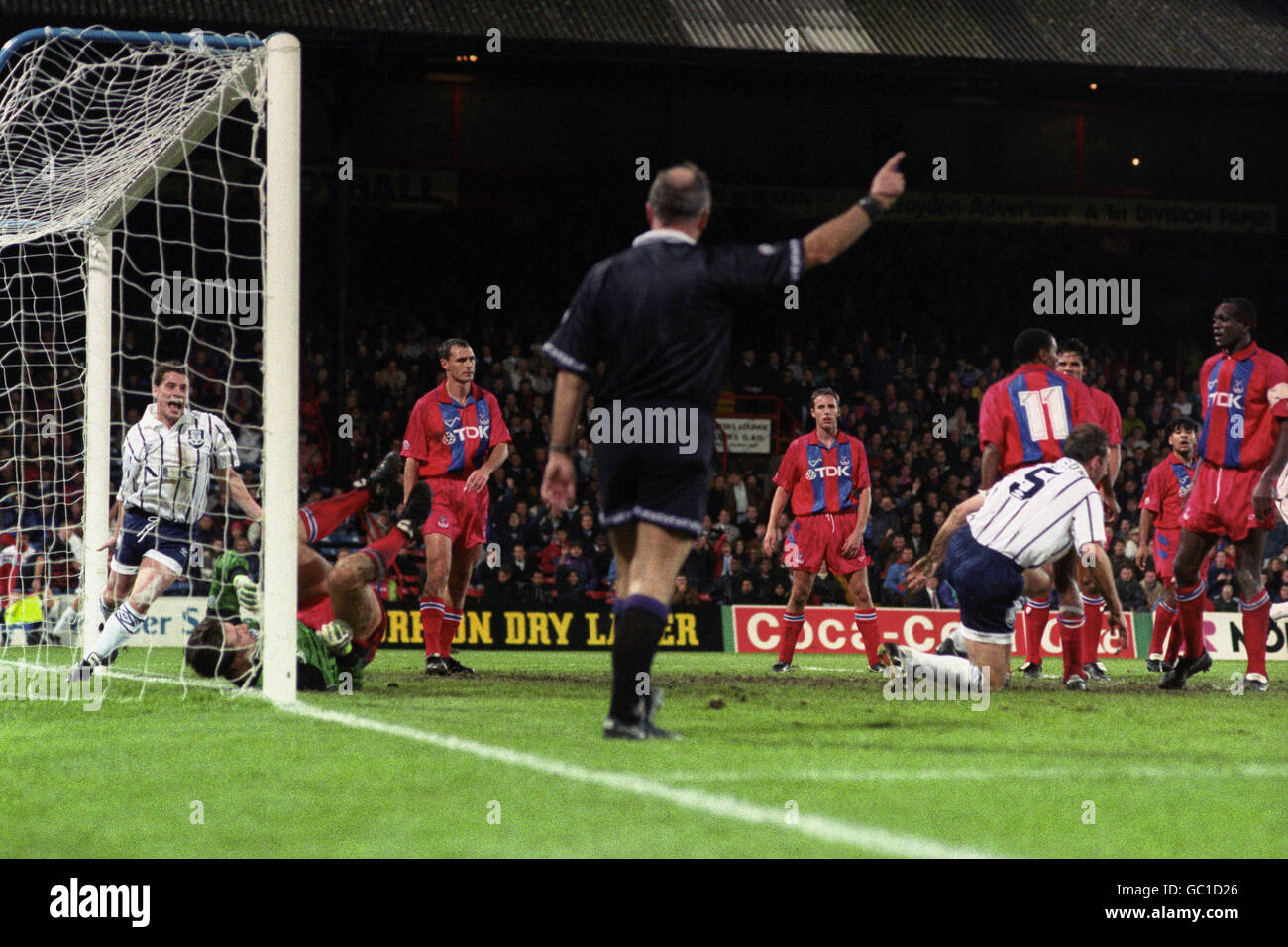 Soccer - Coca-Cola Cup - Round Three - Replay - Crystal Palace v Everton - Selhurst Park - Stock Image
