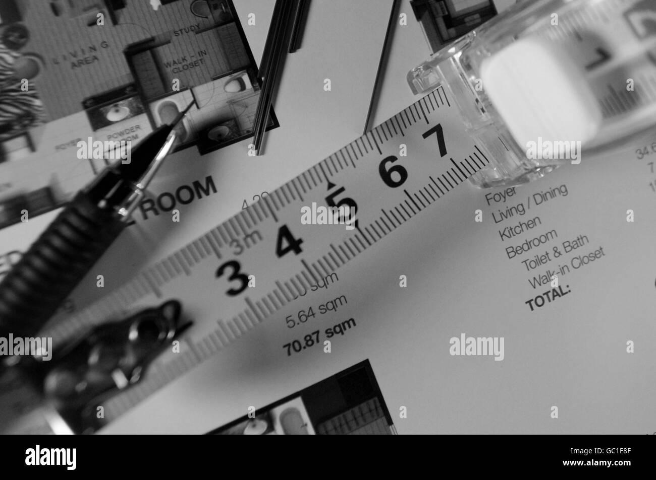 TAPE MEASUREMENTS - Stock Image
