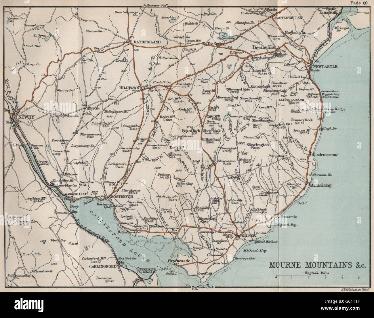 Map Of Ireland 2100.Northern Ireland Map Old Stock Photos Northern Ireland Map Old