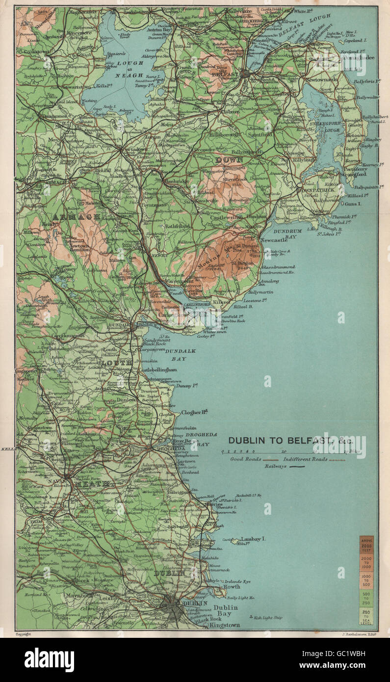 Map Of Ireland Louth.Ireland East Coast Dublin To Belfast Armagh Down Louth