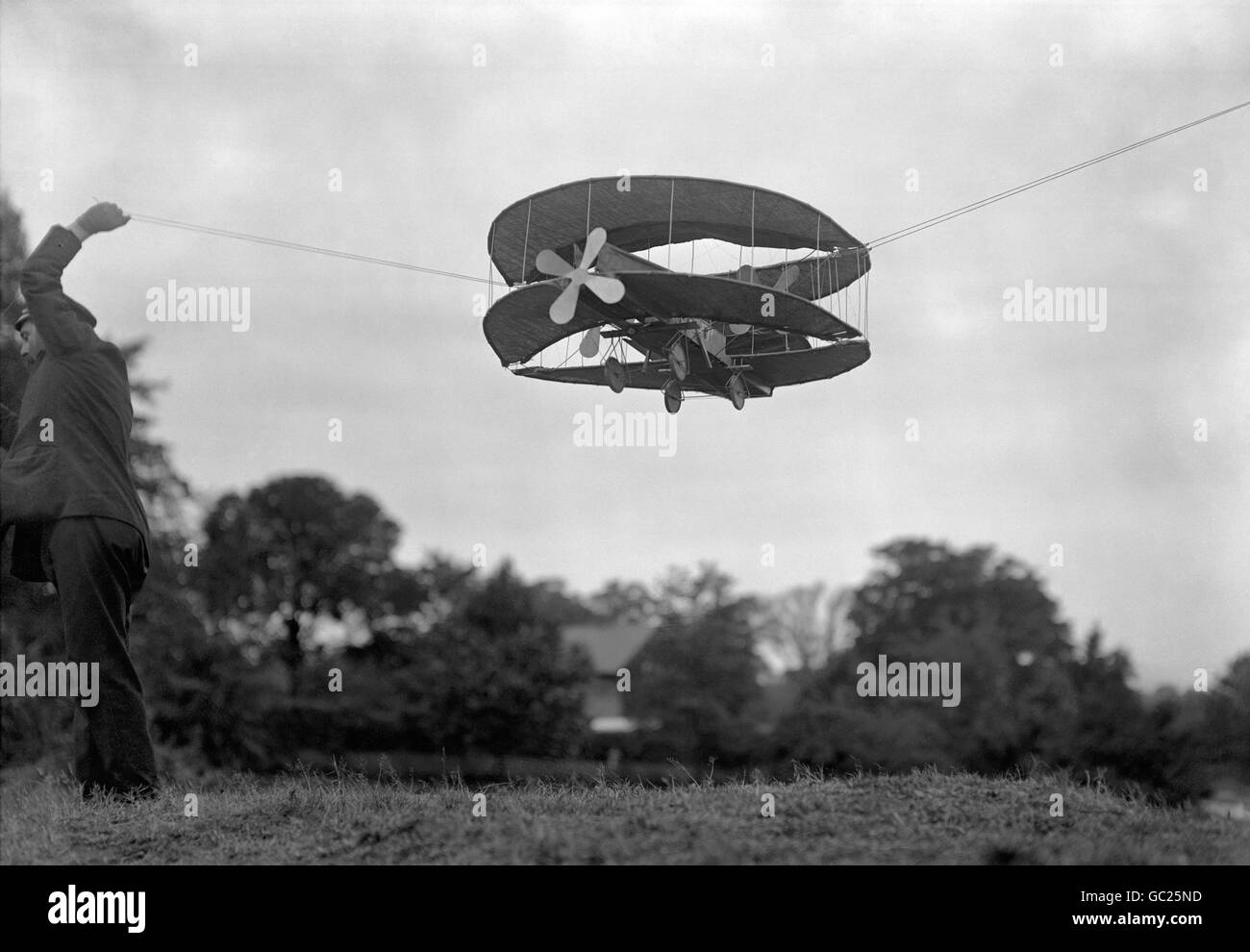 British Transport - Air - Model Aircraft - 1910 - Stock Image