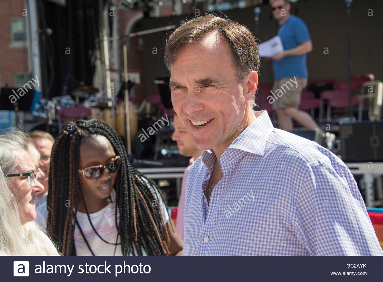 Bill Morneau, Minister of Finance, attending Church on Church which is the annual event of the Metropolitan Community - Stock Image