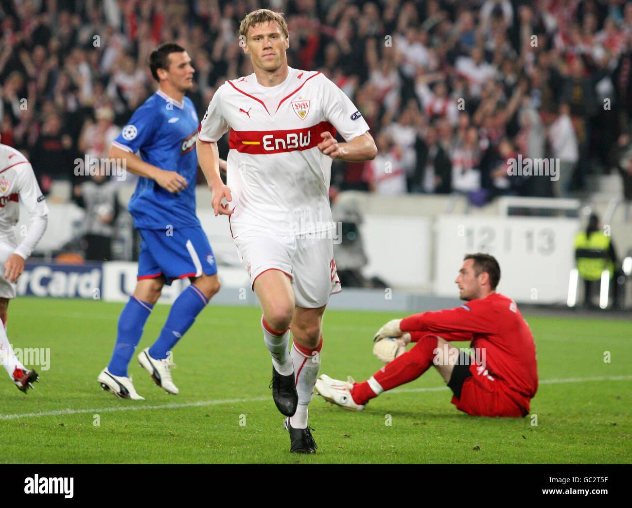Soccer Uefa Champions League Group G Vfb Stuttgart V Rangers Stock Photo Alamy