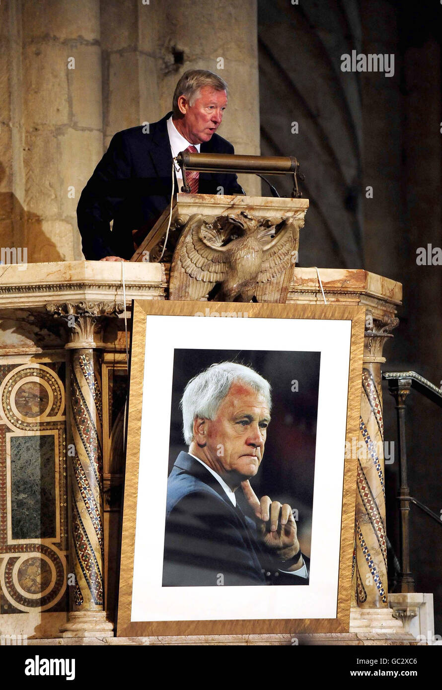 Sir Bobby Robson thanksgiving service - Stock Image