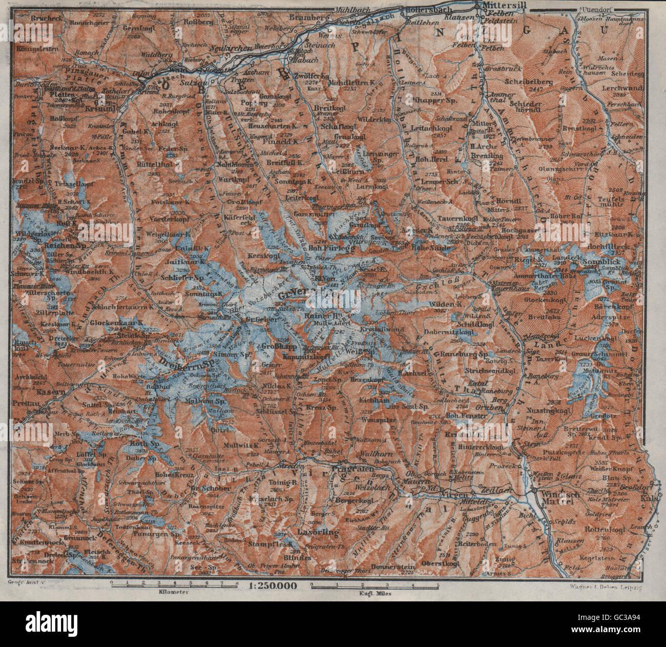 Hohe Tauern Karte.Venedigergruppe Oberpinzgau Hohe Tauern Mittersill Prägraten