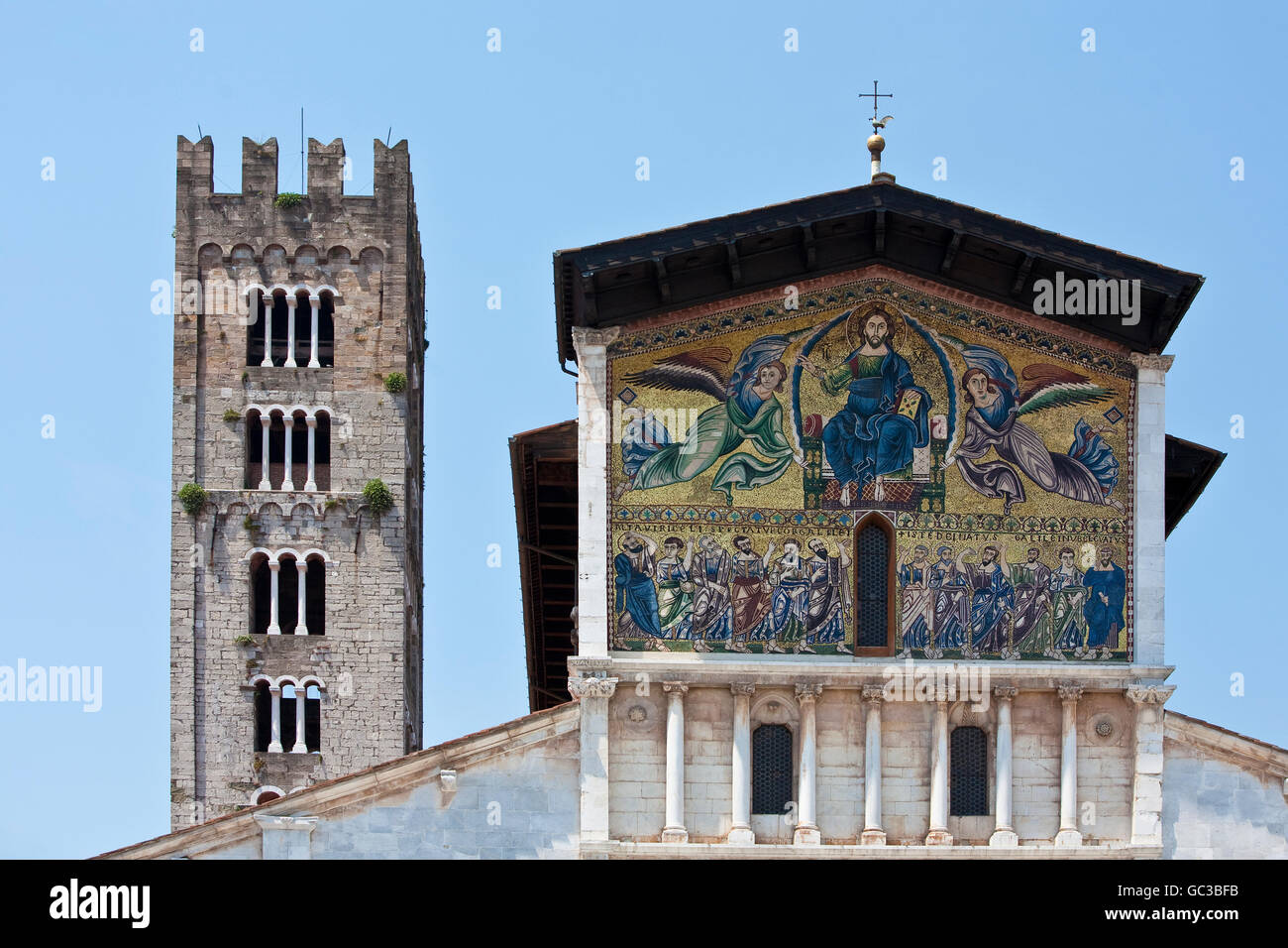 Basilica di San Frediano, church in Lucca, Toskany, Italy, Europe - Stock Image