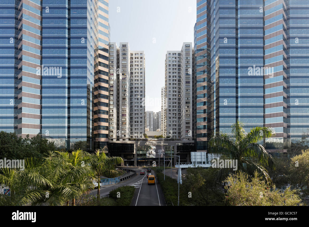 Office and residential quarter stock photos office and residential office towers residential towers taikoo shing condominium private housing district quarry bay malvernweather Images