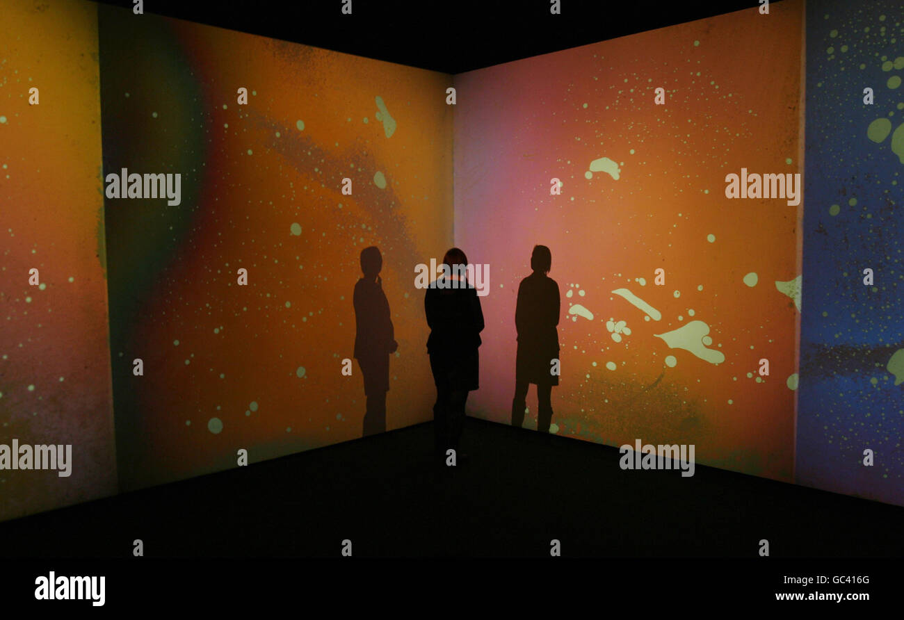 Gustav Metzger exhibition at the Serpentine Gallery - Stock Image