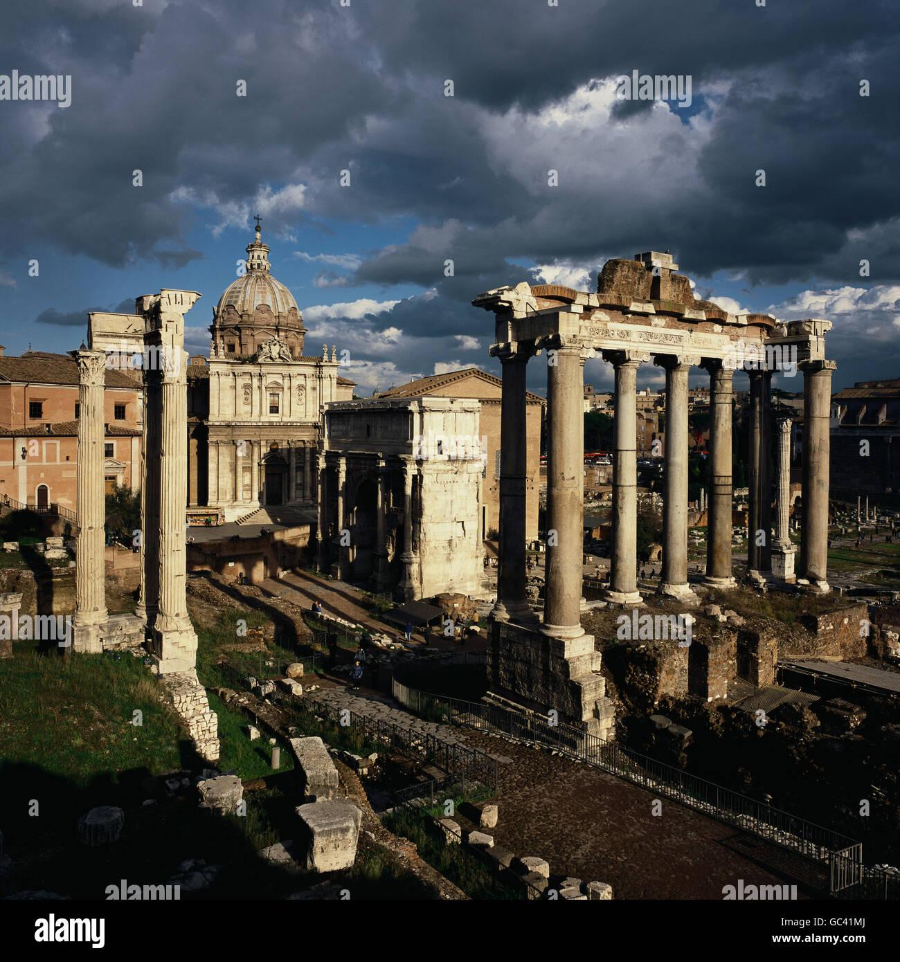 Rome. Italy. The Roman Forum (Foro Romano). - Stock Image