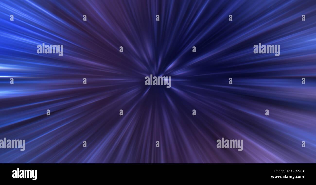 Engaging Light Speed. Time Warp. Infinite Gravity. Speed Travel. Light Velocity - Stock Image