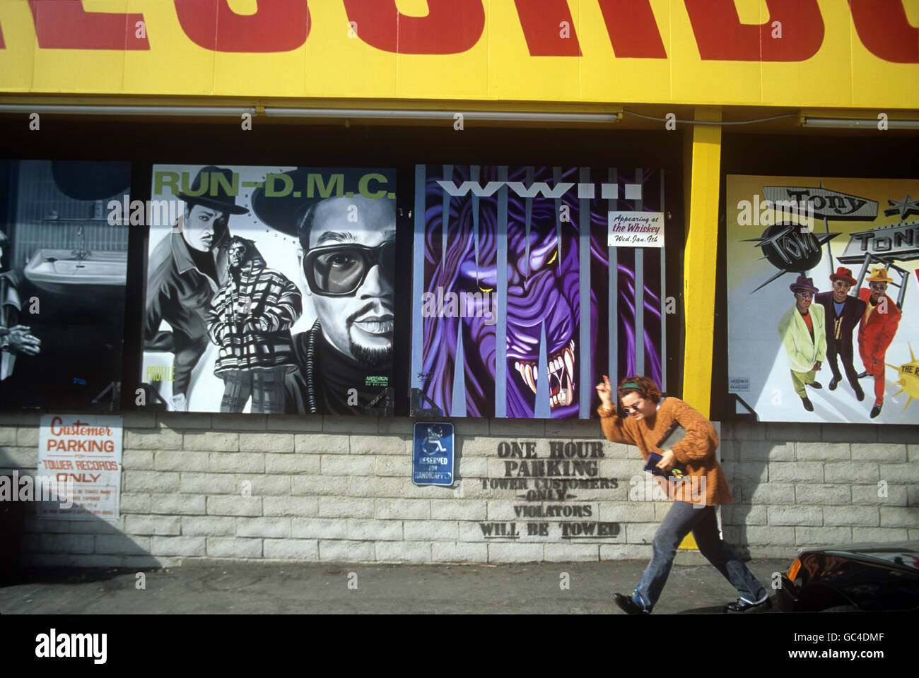 Tower Records on the Sunset Strip circa 1991 - Stock Image