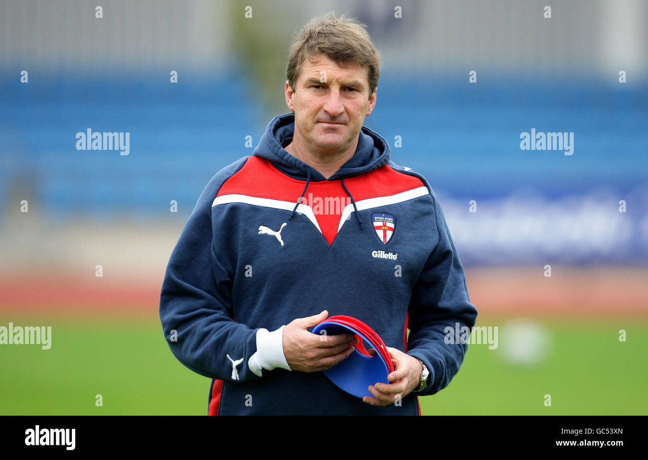 Rugby League - Gillette Four Nations - England Training Session - Manchester Regional Arena - Stock Image
