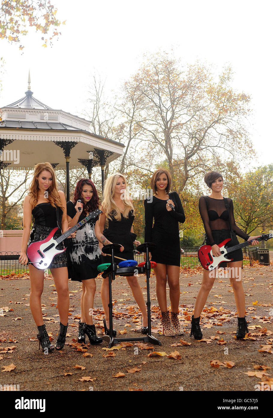 The Saturdays launch 'Band Hero' - London - Stock Image