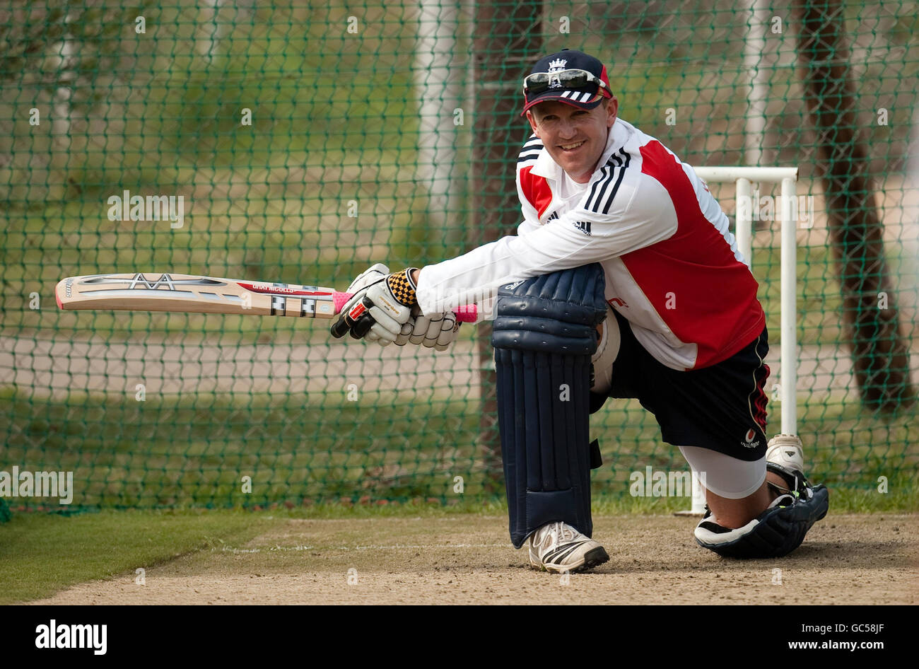 Cricket - England Nets Session - De Beers Diamond Oval - Stock Image
