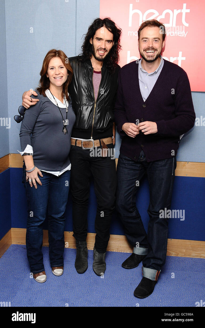 Russell Brand at Heart FM - London Stock Photo: 110755130