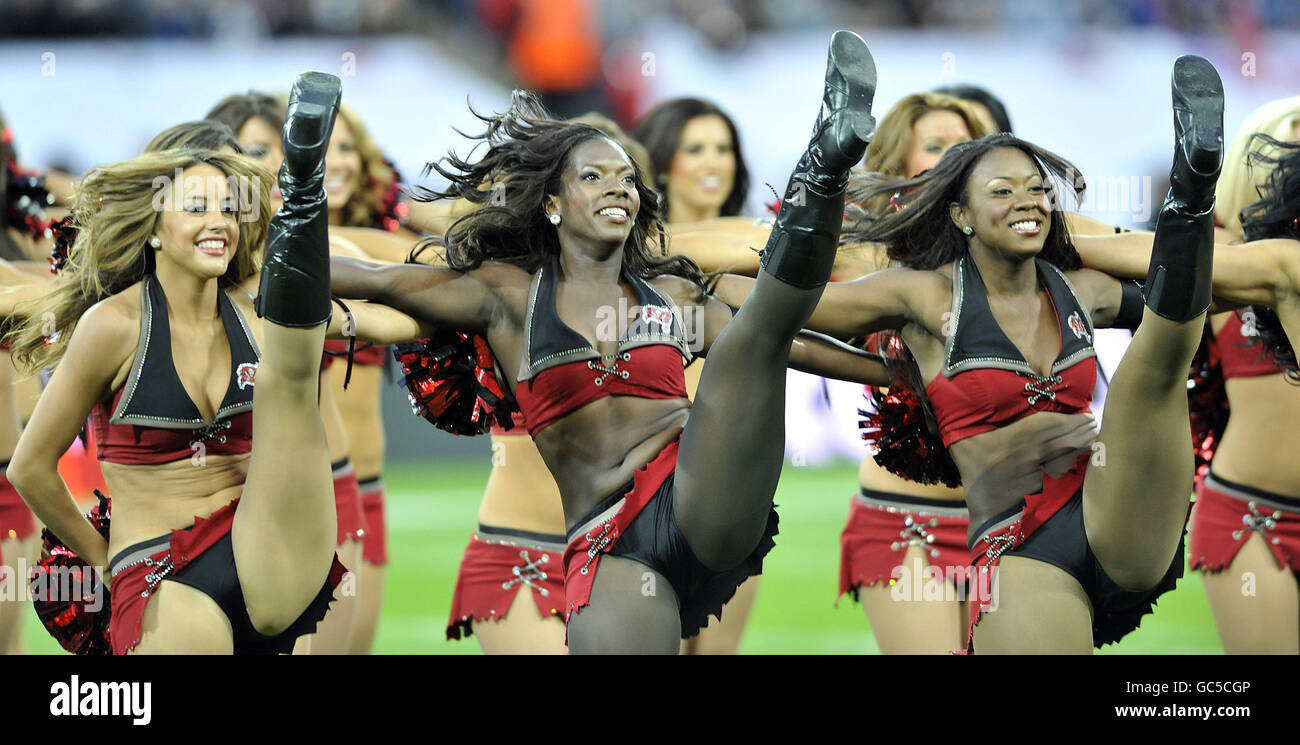 American Football - NFL - New England Patriots v Tampa Bay Buccaneers - Wembley Stadium Stock Photo