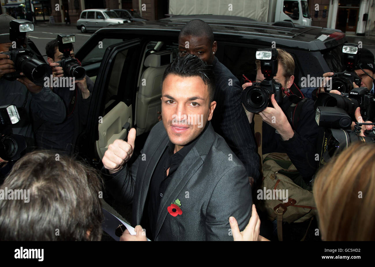 Peter Andre libel case - Stock Image