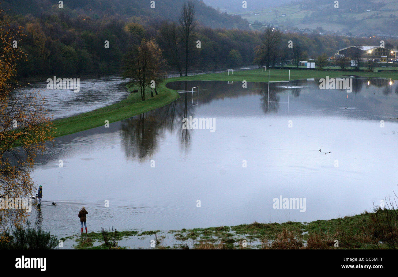 Flooding in West Yorkshire Stock Photo