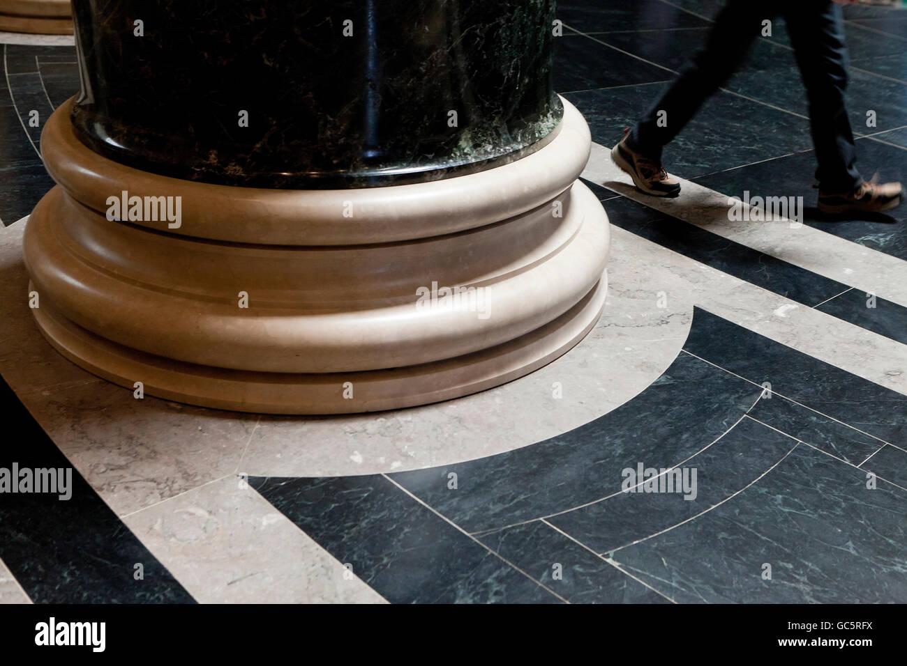 Marble column pedestal - USA - Stock Image