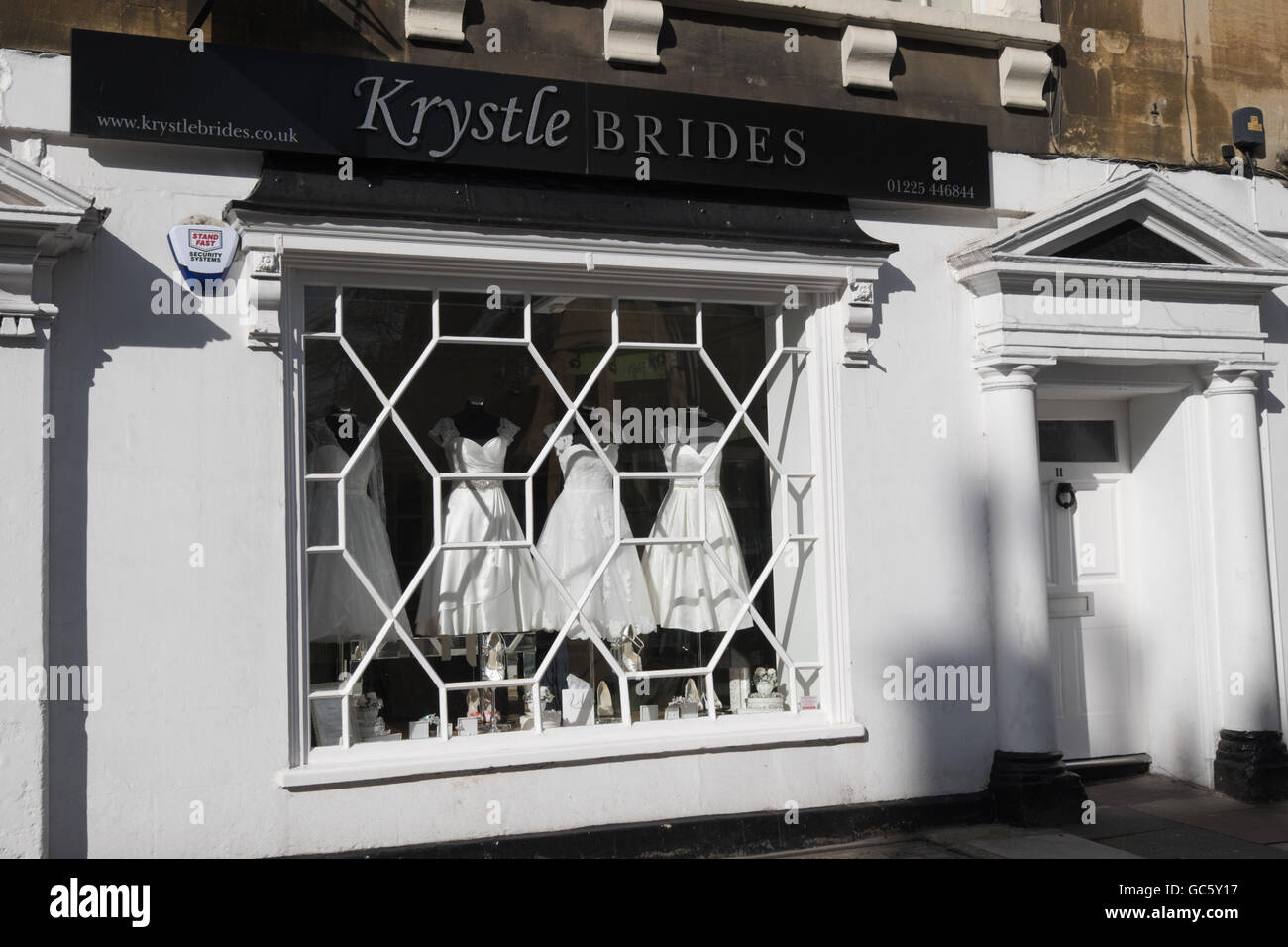 Wedding dress shop window in Bath,southern England Stock Photo ...