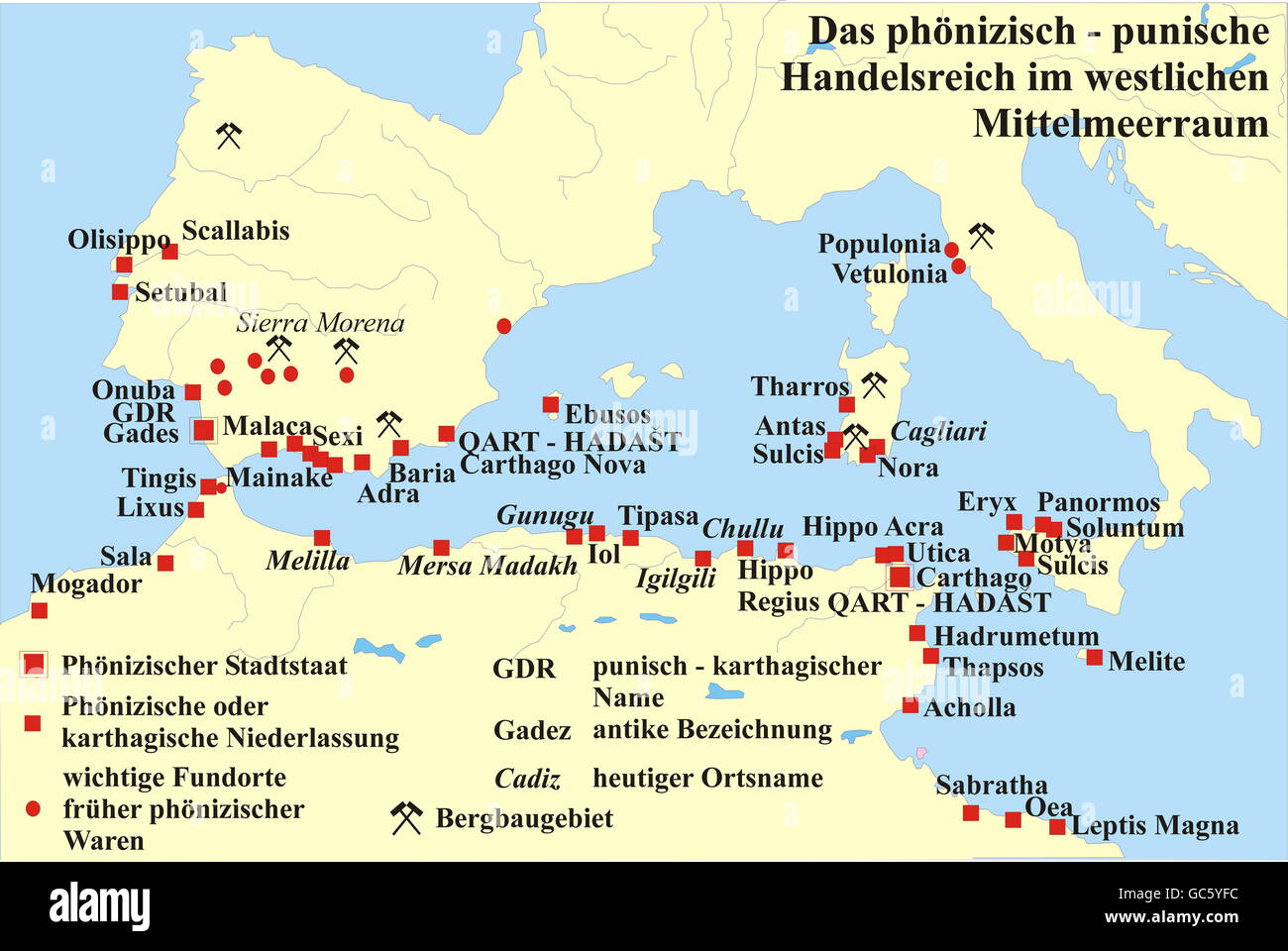 cartography, historical maps, Ancient World, Phoenician - Punic ...