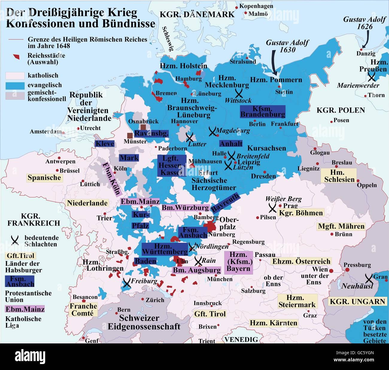 Holy Roman Empire Map Stock Photos Holy Roman Empire Map Stock