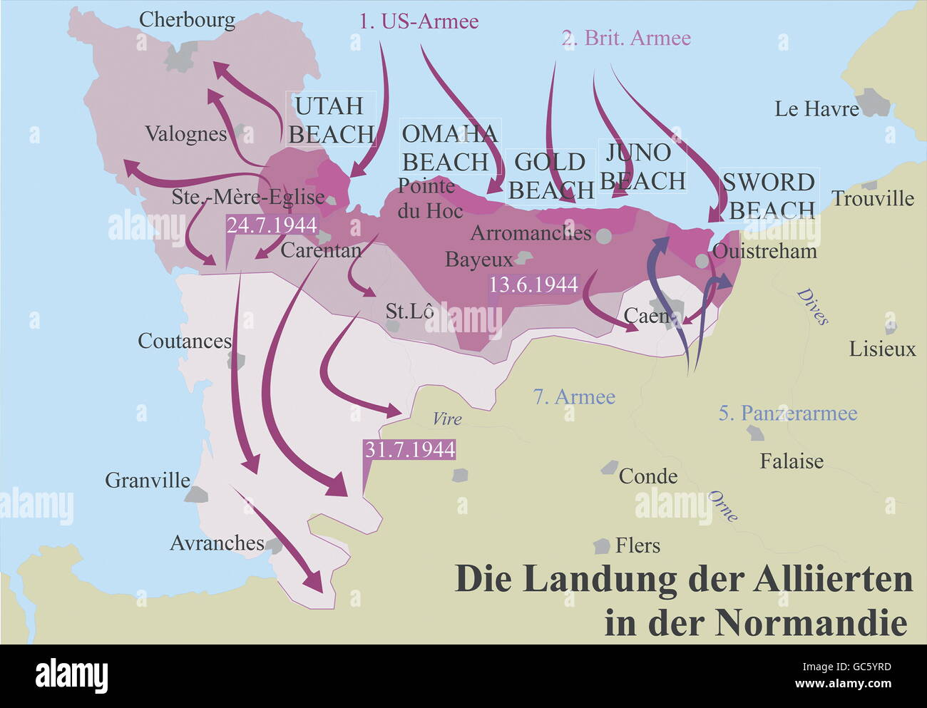 Normandy Map Stock Photos Normandy Map Stock Images Alamy