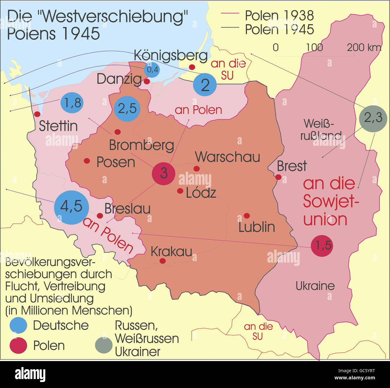cartography, historical maps, modern times, Poland, territorial ...