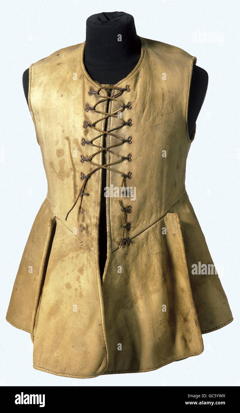 military, Sweden, uniform, cavalry leather tunic, mid 17th century, , Additional-Rights-Clearences-NA - Stock Image