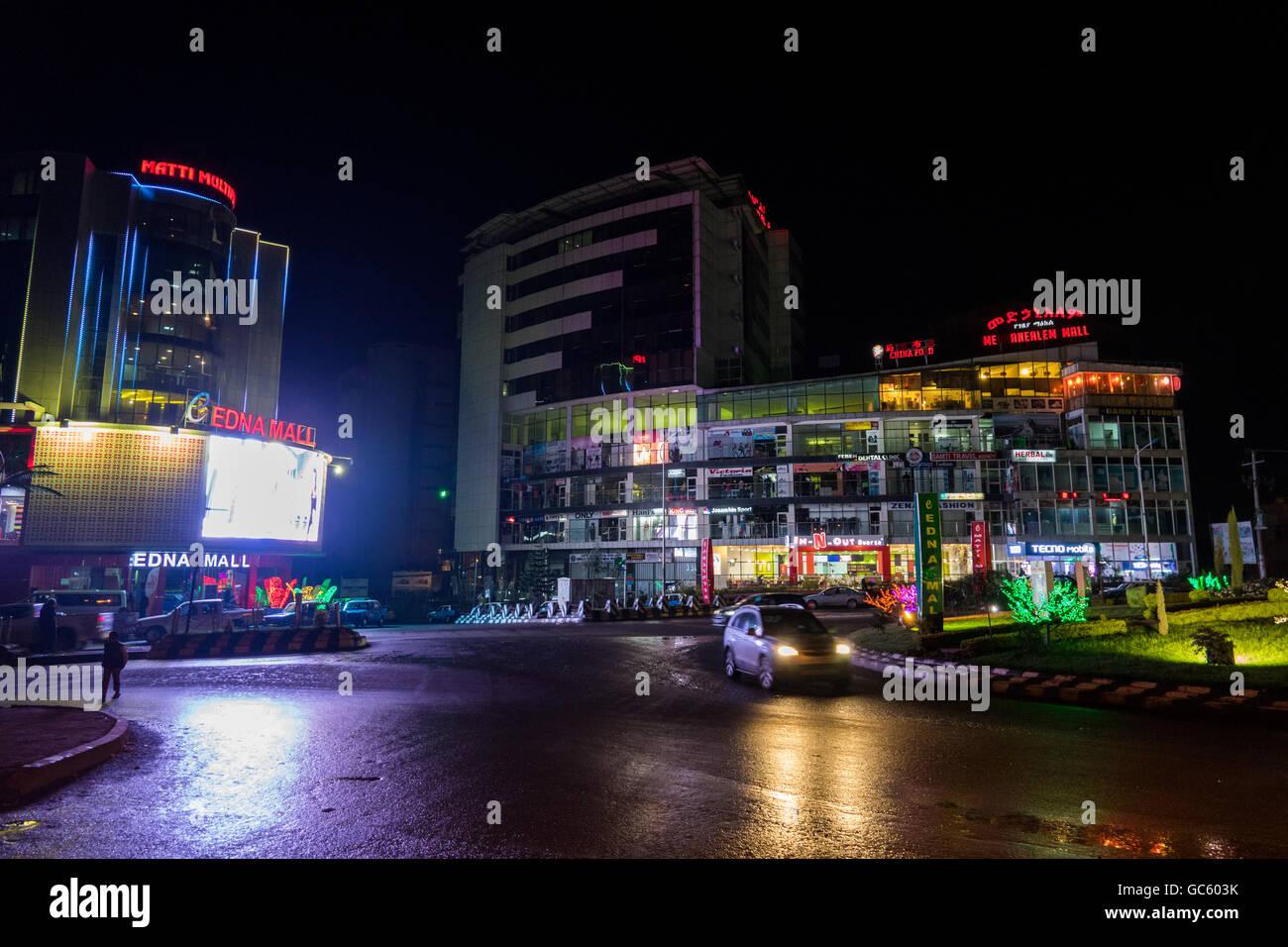 Ethiopia Addis Ababa City Night Stock Photos & Ethiopia