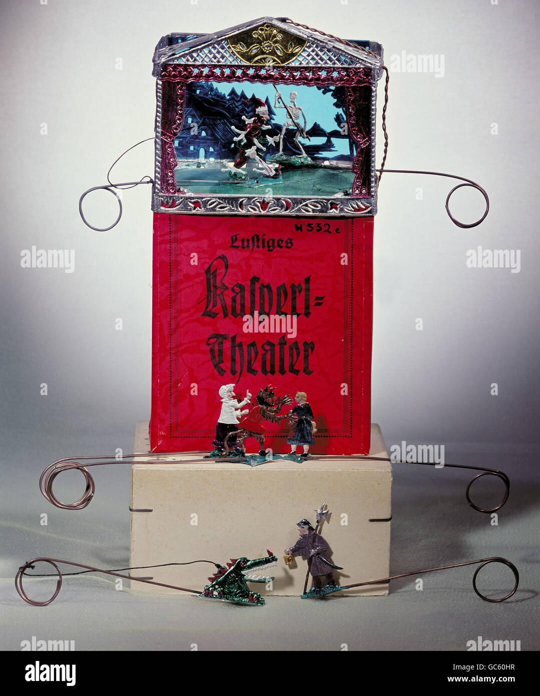 toys, tin figures, 'Lustiges Kaspertheater' by Anni Schweizer, Diessen am Ammersee, 1st half 20th century, - Stock Image