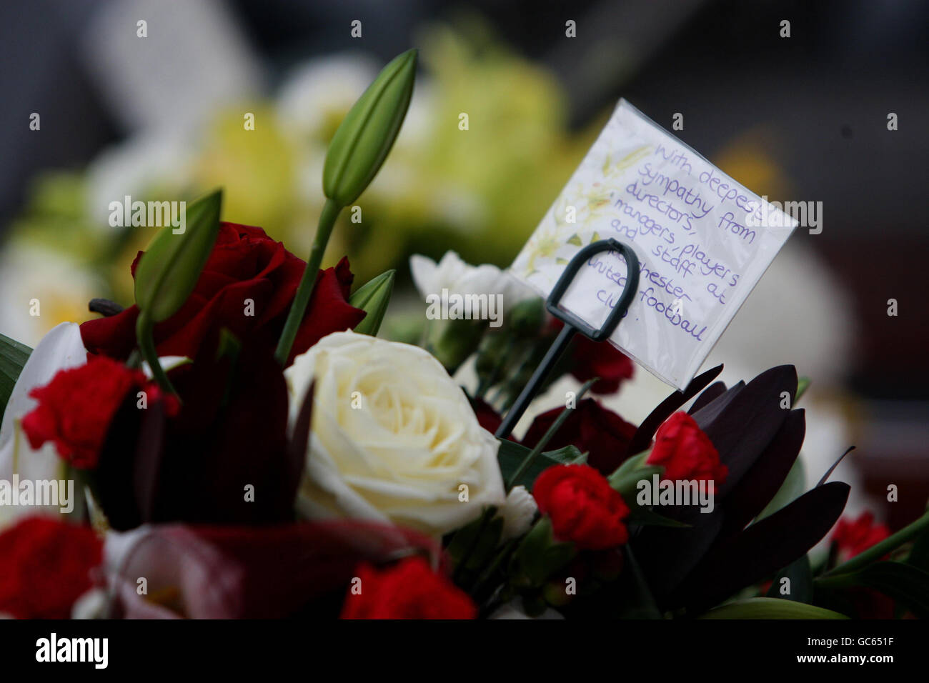 Floral Tribute From Manchester United Stock Photos Floral Tribute