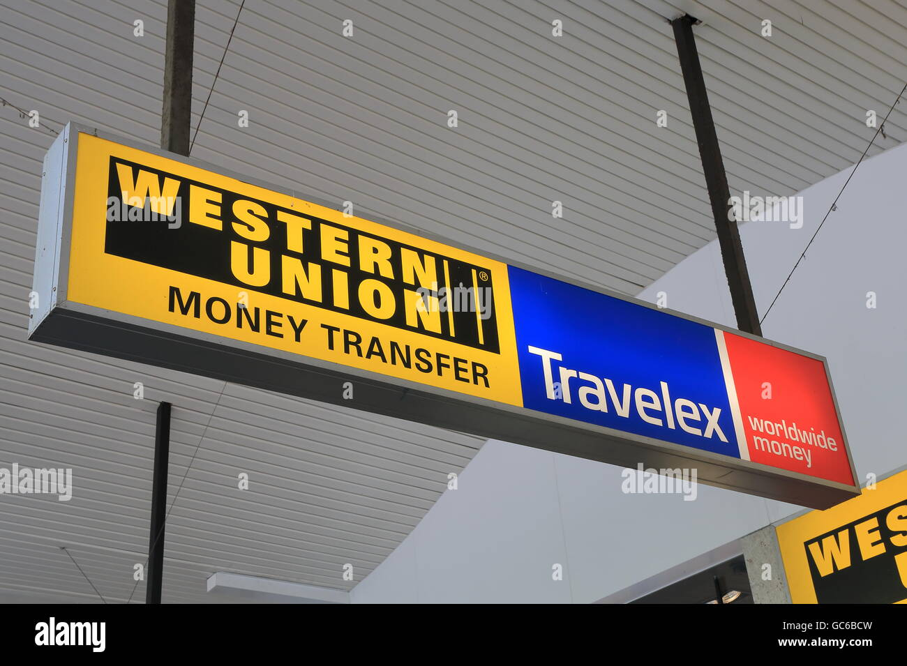 Western Union Currency Exchange Stock Photos & Western Union ...