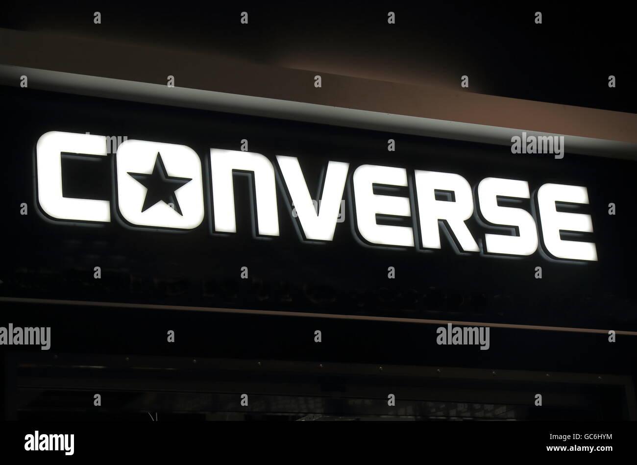 Converse shoe company - Stock Image