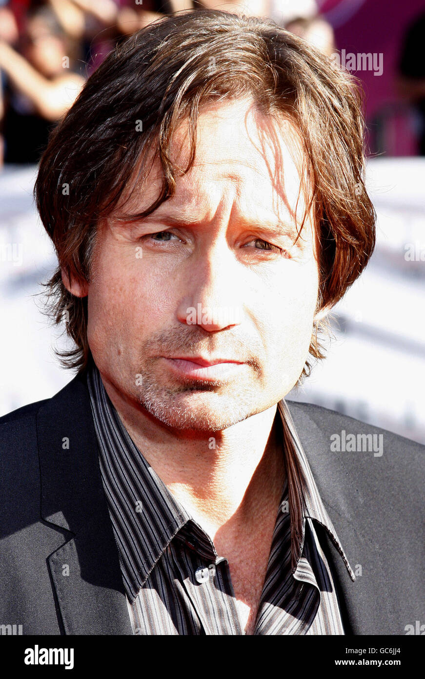 David Duchovny at the World Premiere of 'The X-Files: I Want To Believe' held at the Grauman's Chinese - Stock Image