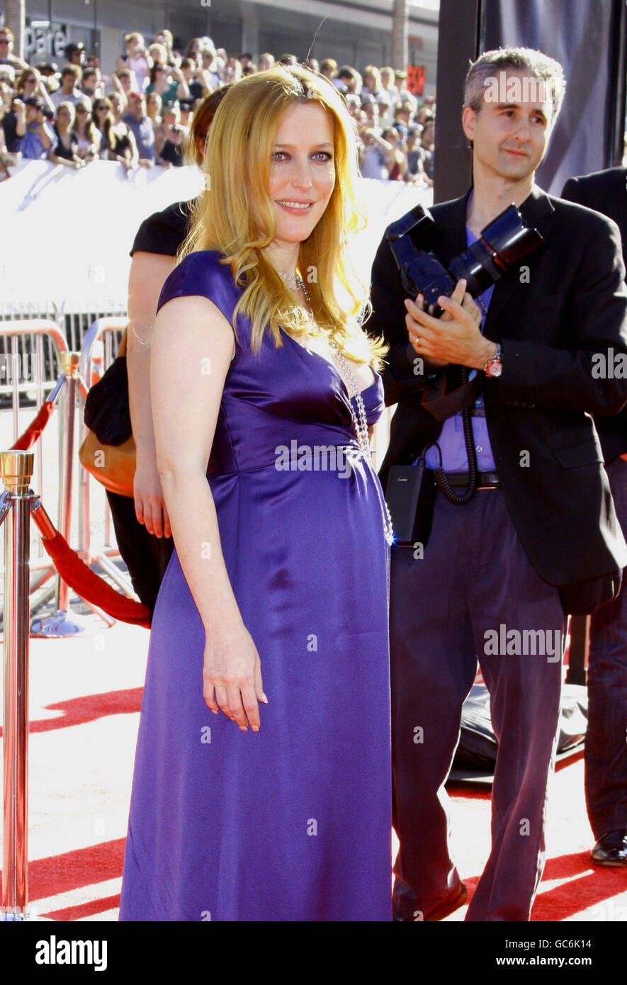 Gillian Anderson at the Los Angeles Premiere of 'The X-Files: I Want To Believe' held at the Grauman's - Stock Image