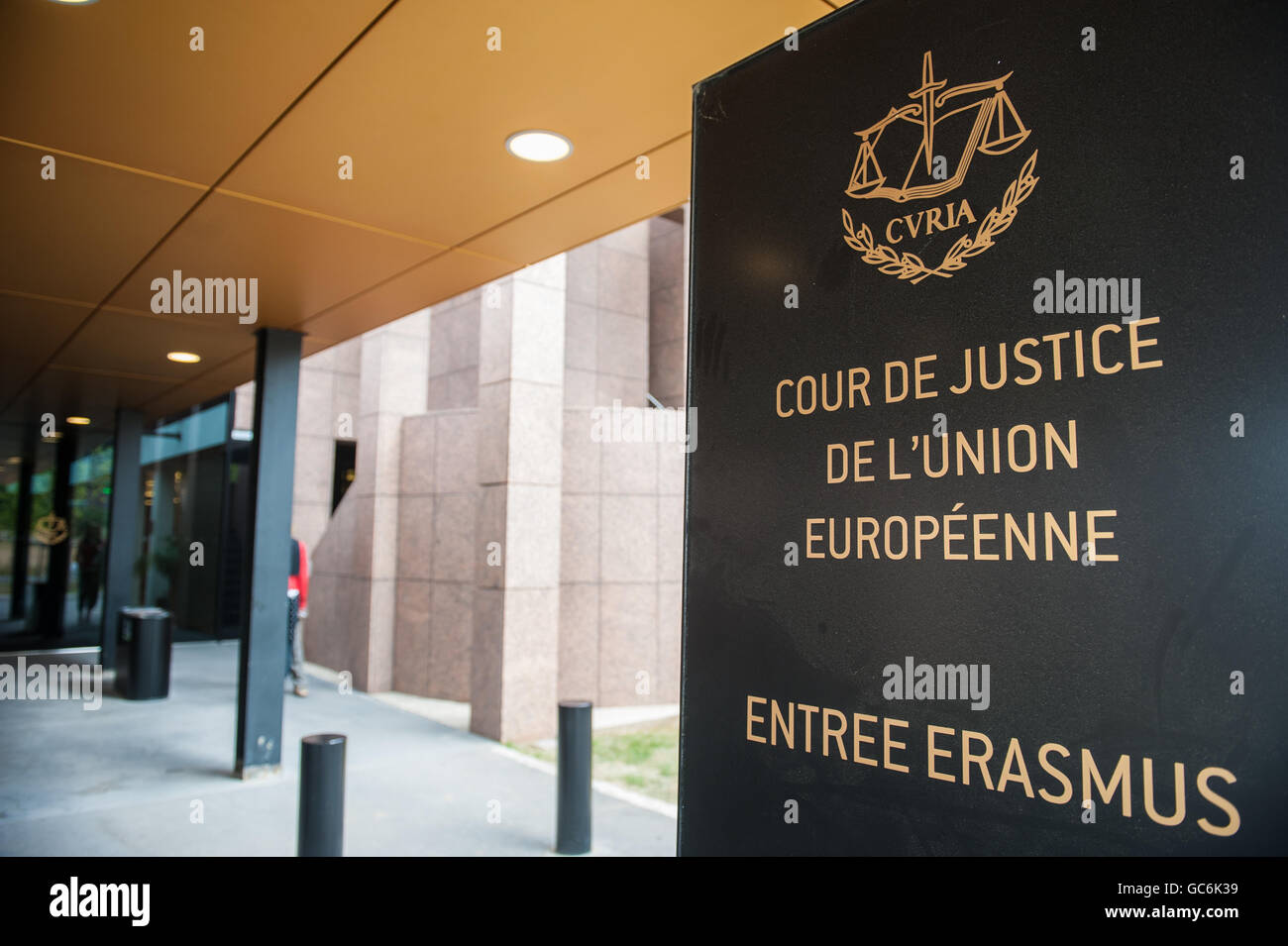 Luxembourg European court of Justice tribe tribunal  lawyer judge criminals crime high equality country Europe capital - Stock Image
